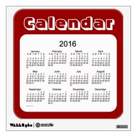 2016 Maroon Calendar by Janz Wall Decal