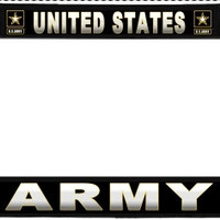 United States Army US Metal License Plate Frame Holder Chrome, Black or Gold for Auto Car Truck