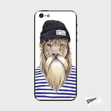 iPhone 5 / 5S Skin Decal Sticker Cover Lion