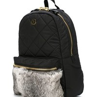 Moncler Fur Panel Backpack - Bernard - Farfetch.com
