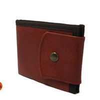 Minimalist Vegan Wallet Pure Brown Wallet with Coin Pocket Simple Wallet for Man for Woman with Coin Pocket, Card Holder - UNUSUAL Wallet
