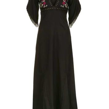 **Floral Embroidered Maxi by Glamorous Petites - Dresses - Clothing