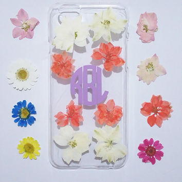 initial iPhone 6 Case,flower iPhone 6 case,Monogram iPhone 5C case,iphone 6s plus case,Pressed flower iphone case and samsung galaxy case