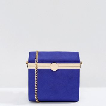 ASOS 80s Boxy Frame Clutch Bag With Detachable Strap at asos.com