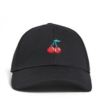 Men Cherry Graphic Dad Hat