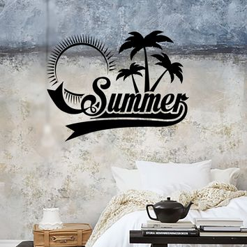 Wall Sticker Vinyl Decal Summer Palm Beach Relax Tropical Sun Decor (ig2143)