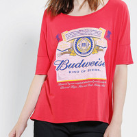 Urban Outfitters - Junk Food Budweiser Oversized Tee