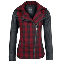 "Rock Rebel by EMP Between-seasons Jacket, Women ""Checked Jacket"" red"