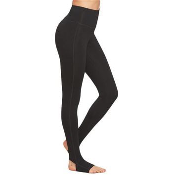 Women High Waist Plain Fitness Leggings Exercise Leggings For Ladies