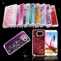 Trend Glitter Star Liquid Back Phone Case Cover for Samsung galaxy S7 S6 /Note 5