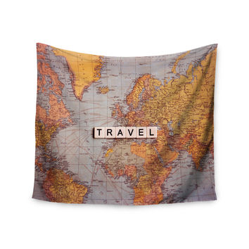 "Sylvia Cook ""Travel Map"" World Wall Tapestry"