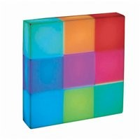 ATGStores - Lite Source LS-21680 9 Light Rubik MultiColor LED Accent Wall Sconce, Multi-Colored