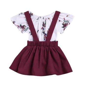 Short Sleeve Onesuit with Romper | Multi-Colors