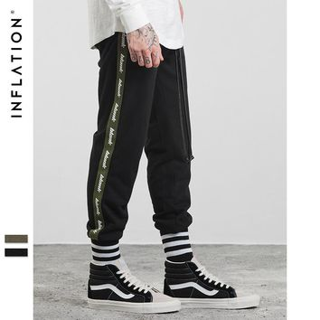 Autumn Men Sweatpants Joggers Fashion Letter Printing Harem Pants Split Ribbon Ribbing jogger pants men