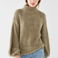 UO Denver Fluffy Mock-Neck Sweater | Urban Outfitters