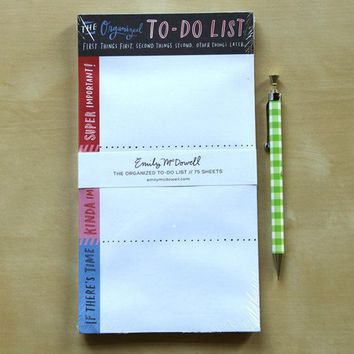 Day-First™ Organized To-Do List Notepad