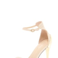 Carrie Ankle Strap Metallic Heel Sandals