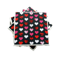 Heart Valentine Ceramic Coasters, Set of 4, Discounted Price