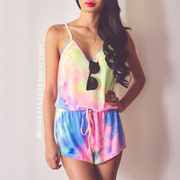 Shout It Out Tie Dye Playsuit