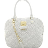 Betsey Johnson Always Be Mine Dome Satchel White