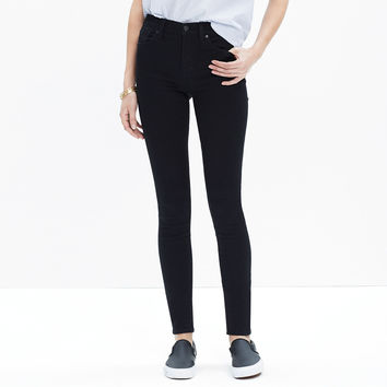 "9"" High-Rise Skinny Jeans in Black Frost - monogrammable denim -SHOP ALL- J.Crew"