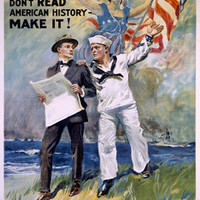 U.S. Navy Recruiting Don't Read History Fine Art Print