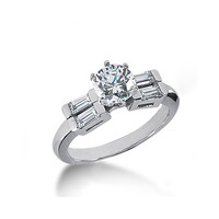 Beautiful diamonds 5-stone ring 1.51 carats white gold