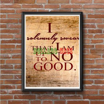 Harry Potter Quotes-I Solemnly Swear That I Am Up To No Good Photo Poster