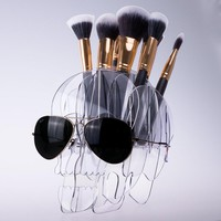 Skull Make-Up Brush Holder