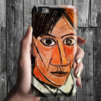 Selfportrait - Pablo Picasso iPhone Case 6/6S, 6 Plus, 4S,5S. Mobile Phone Cell. Art Painting. Gift Idea. Anniversary. Gift for him and her