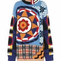 Intarsia wool and cashmere sweater