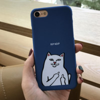 Supreme Ripndip Cat Cover Case For Iphone 7 7Plus & 6 6s Pus &5 5s