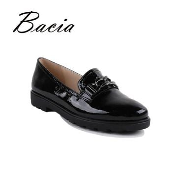 Bacia Loafers Handmade Leather Ladies Shoes Full season Soft Light Casual Women Flats
