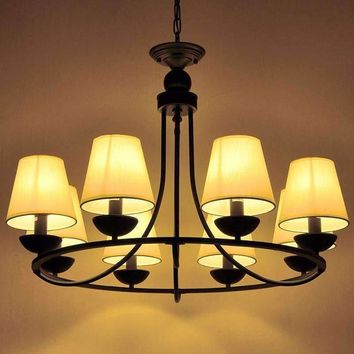 Christmas European Fashion Vintage Chandelier Ceiling lamp 6/8 Candle Lights Lighting Fixtures Iron Home Lighting E14 WPL123