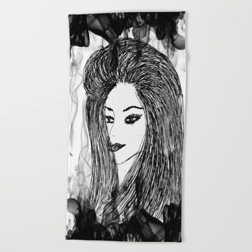 Woman | Daughter | Sister | Girlfriend | Companion Beach Towel by Azima