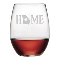 HOME Stemless Wine Glasses - Set of 4