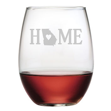 HOME Stemless Wine Glasses - Set of Four