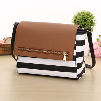 Hot selling! 2016 Women's Fashion  striped  Plaid Handbag/Women Messenger /Crossbody small bags women  24*20*8cm