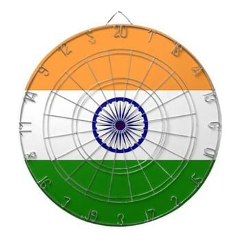Dartboard with Flag of India