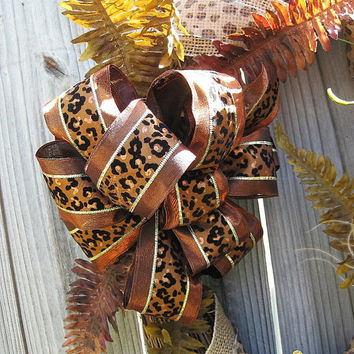 XL Cheetah Leopard Animal Print Wreath – Animal Print Wreath - Year-Round Wreath-Fall Wreath-Front Door wreath-Wall décor