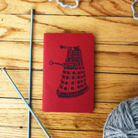 Dalek notebook, pocket moleskine, 8 bit doctor who diary