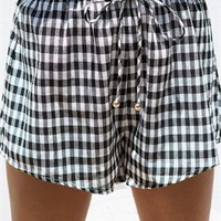 Callen Gingham Shorts - Bottoms by Sabo Skirt