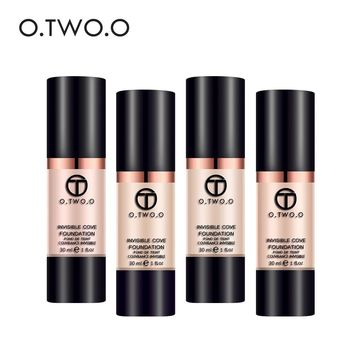 O.TWO.O Full Coverage Make Up Fluid Foundation Concealer Whitening Moisturizer Oilcontrol Waterproof Liquid Foundation