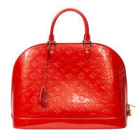 Louis Vuitton Alma GM Sunset Orange Monogram Vernis
