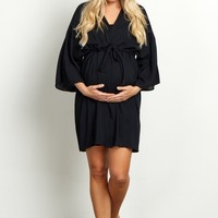 Black-Solid-Dressing-Robe