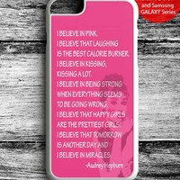 Audrey Hepburn Quote I Believe In Pink