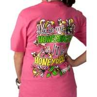 Girlie Girl® Womens Pink I'll Be Your Honey Bee Short Sleeve Tee