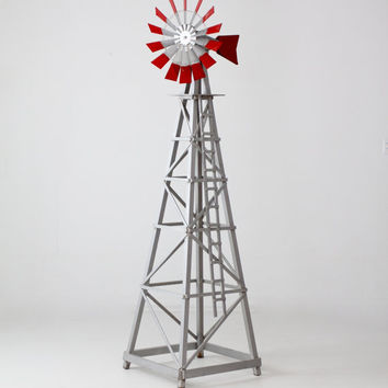 vintage windmill, garden decor, lawn ornament