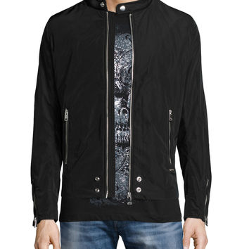 J-Edge Nylon Blouson Jacket, Black