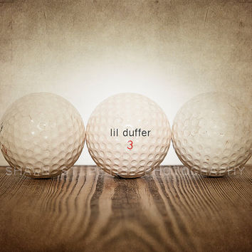 Vintage Golf  Balls Lil Duffer 8x10 print ,Decorating Ideas, Wall Decor, Wall Art,  Kids Room, Nursery Ideas, Gift Ideas,